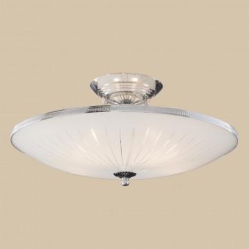 Потолочная люстра Citilux CL912111, 5xE27x75W, хром, белый, металл, стекло - миниатюра 3