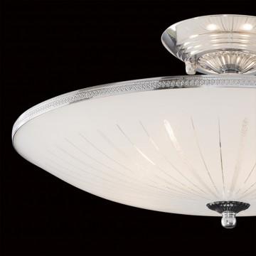 Потолочная люстра Citilux CL912111, 5xE27x75W, хром, белый, металл, стекло - миниатюра 4