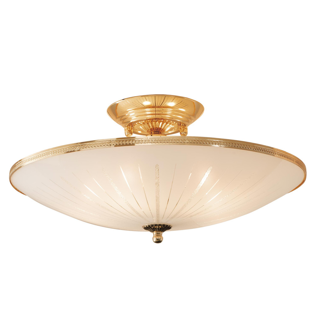 Потолочная люстра Citilux CL912121, 5xE27x75W, золото, белый, металл, стекло - фото 1
