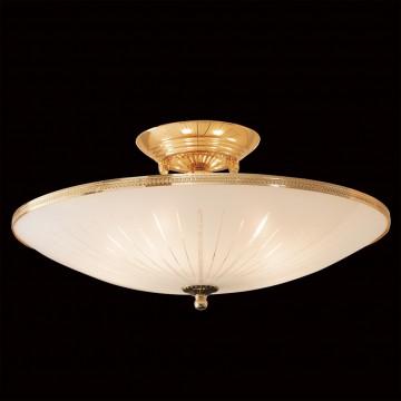 Потолочная люстра Citilux CL912121, 5xE27x75W, золото, белый, металл, стекло - миниатюра 2