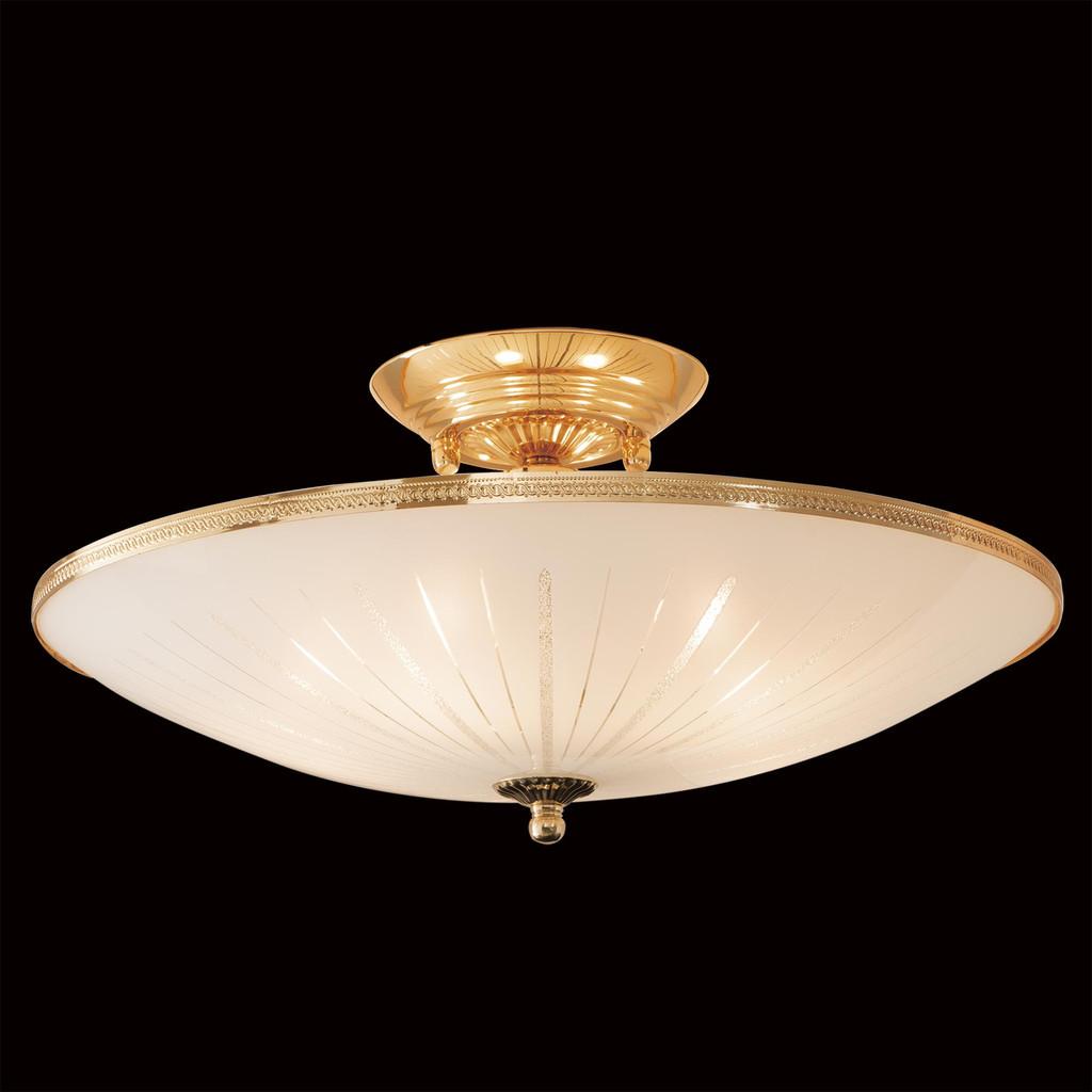 Потолочная люстра Citilux CL912121, 5xE27x75W, золото, белый, металл, стекло - фото 2