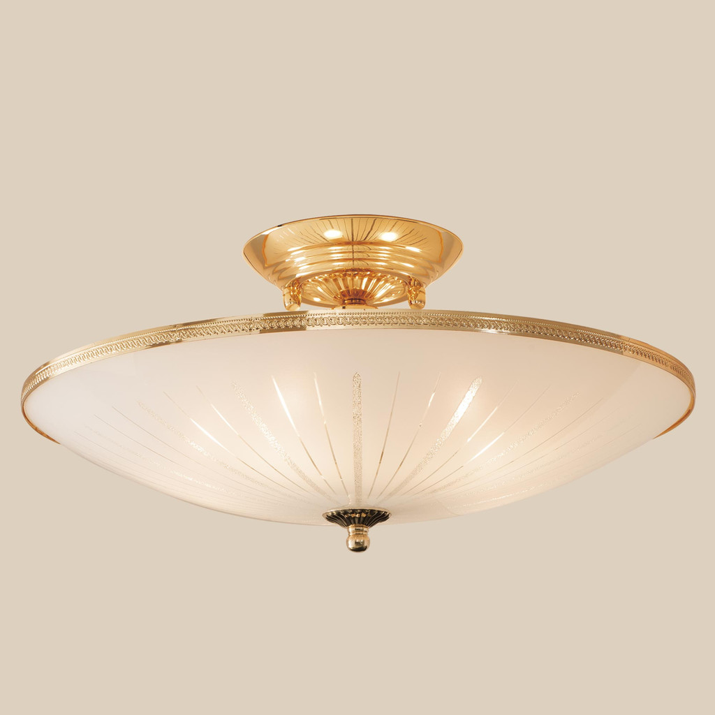 Потолочная люстра Citilux CL912121, 5xE27x75W, золото, белый, металл, стекло - фото 3