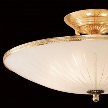 Потолочная люстра Citilux CL912121, 5xE27x75W, золото, белый, металл, стекло - миниатюра 4