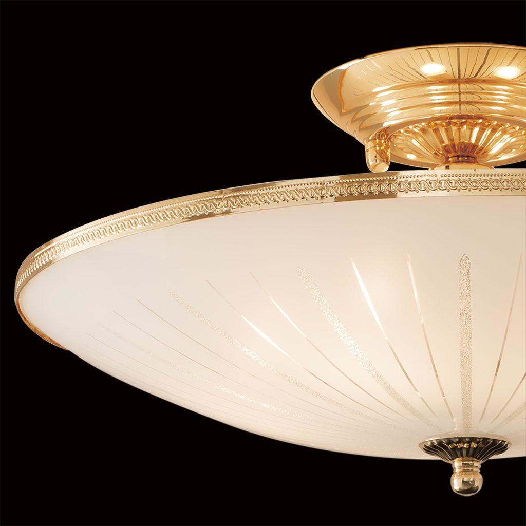 Потолочная люстра Citilux CL912121, 5xE27x75W, золото, белый, металл, стекло - фото 4