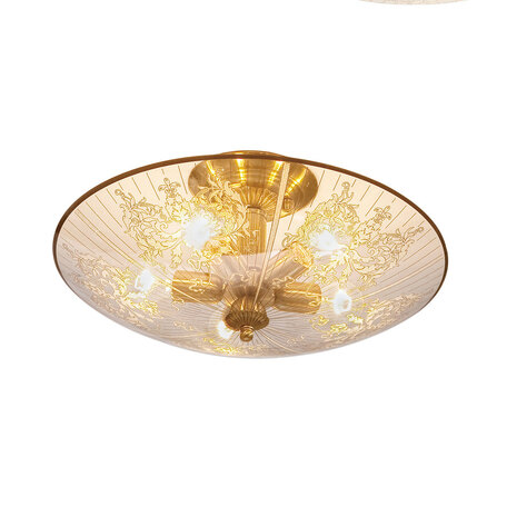 Потолочная люстра Citilux Регент CL915151, 5xE27x60W, бронза, прозрачный, металл, стекло