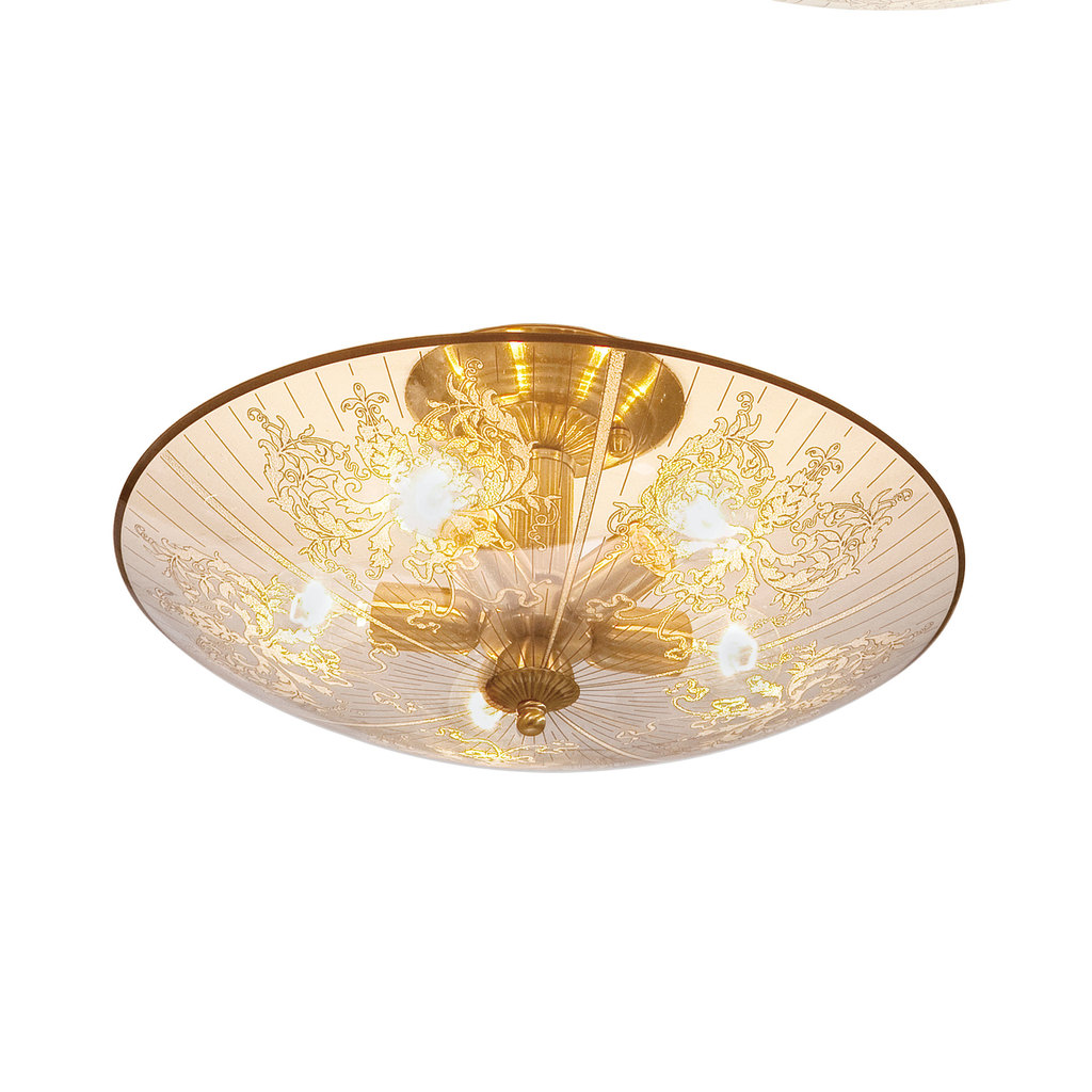Потолочная люстра Citilux Регент CL915151, 5xE27x60W, бронза, прозрачный, металл, стекло - фото 1
