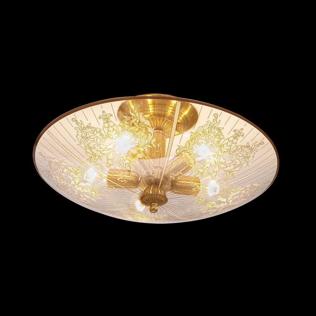 Потолочная люстра Citilux Регент CL915151, 5xE27x60W, бронза, прозрачный, металл, стекло - фото 2