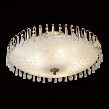 Потолочная люстра Citilux Амели CL916251, 5xE27x75W, золото, белый, прозрачный, металл, стекло, хрусталь - миниатюра 2