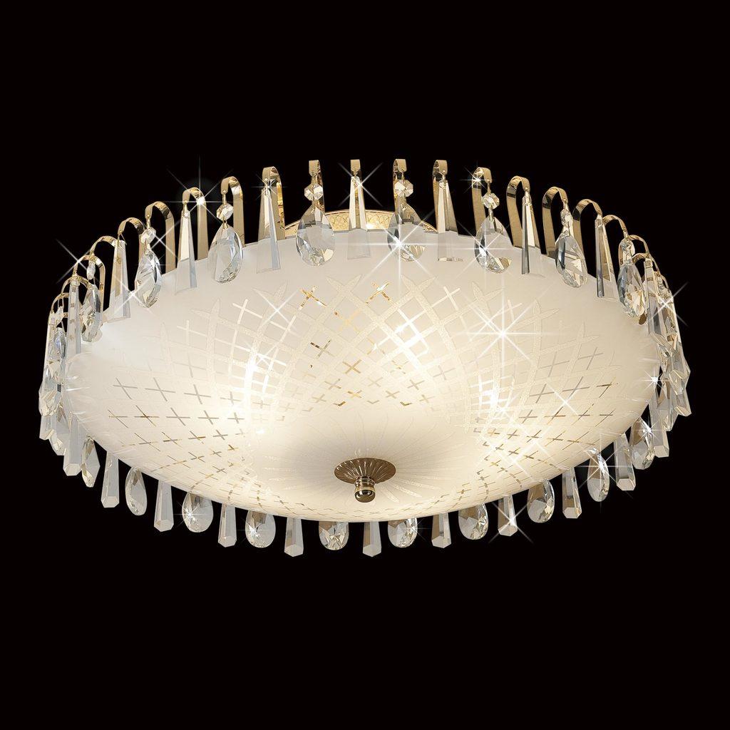 Потолочная люстра Citilux Амели CL916251, 5xE27x75W, золото, белый, прозрачный, металл, стекло, хрусталь - фото 2