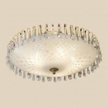 Потолочная люстра Citilux Амели CL916251, 5xE27x75W, золото, белый, прозрачный, металл, стекло, хрусталь - миниатюра 3