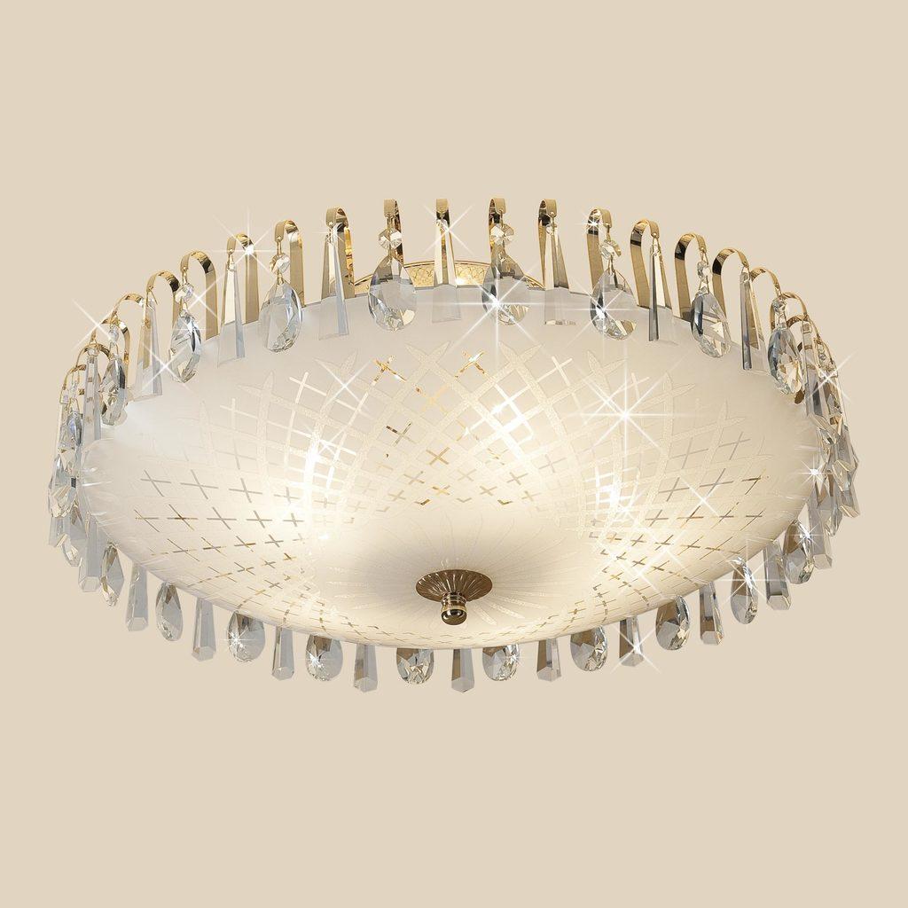 Потолочная люстра Citilux Амели CL916251, 5xE27x75W, золото, белый, прозрачный, металл, стекло, хрусталь - фото 3