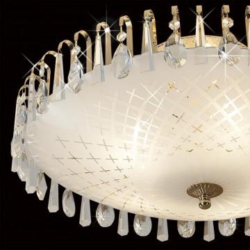 Потолочная люстра Citilux Амели CL916251, 5xE27x75W, золото, белый, прозрачный, металл, стекло, хрусталь - миниатюра 4