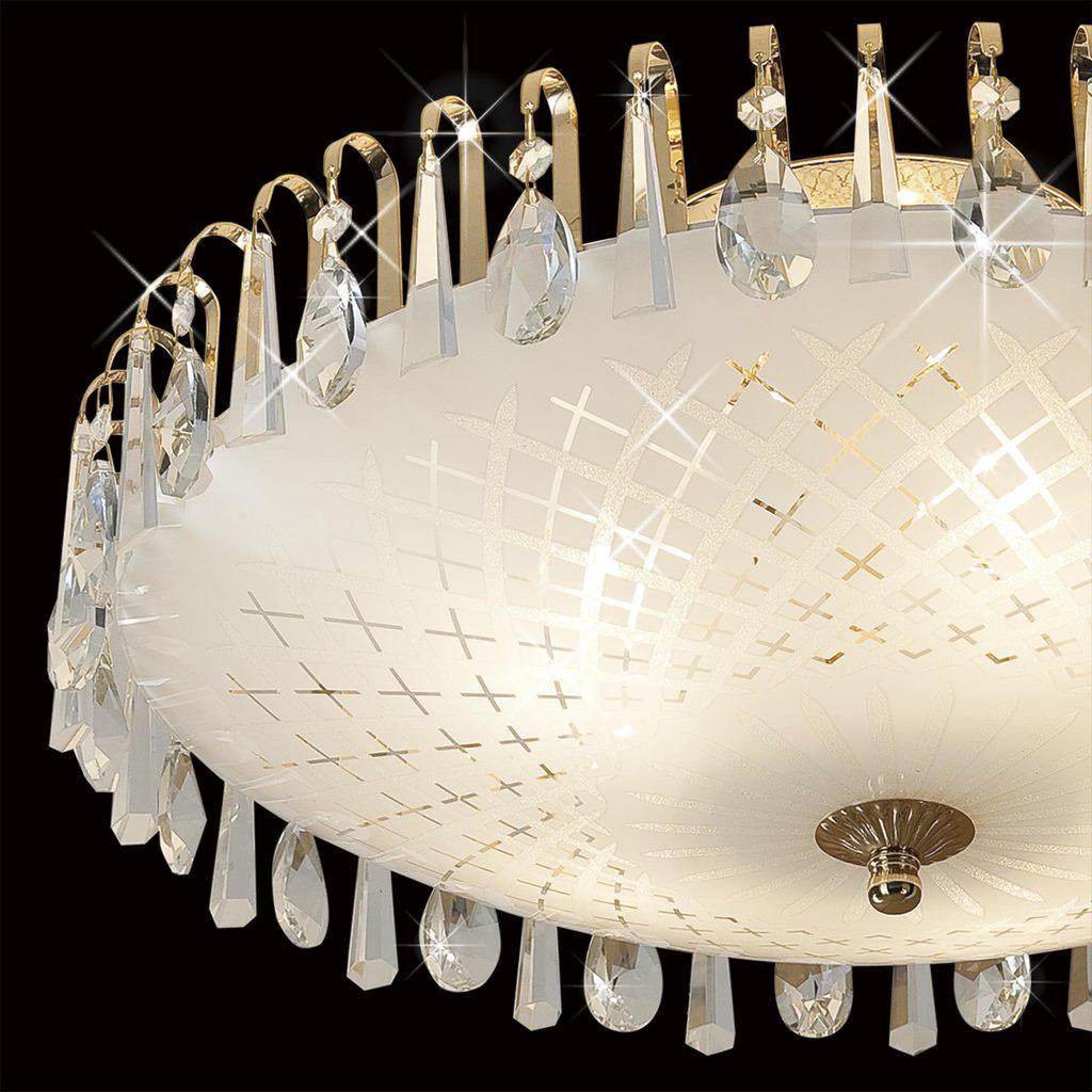 Потолочная люстра Citilux Амели CL916251, 5xE27x75W, золото, белый, прозрачный, металл, стекло, хрусталь - фото 4