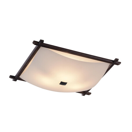 Потолочная люстра Citilux Лайн CL931112, 3xE27x100W, коричневый, белый, дерево, стекло