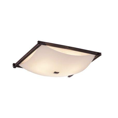 Потолочный светильник Citilux Лайн CL932111, 4xE27x100W, коричневый, белый, дерево, стекло