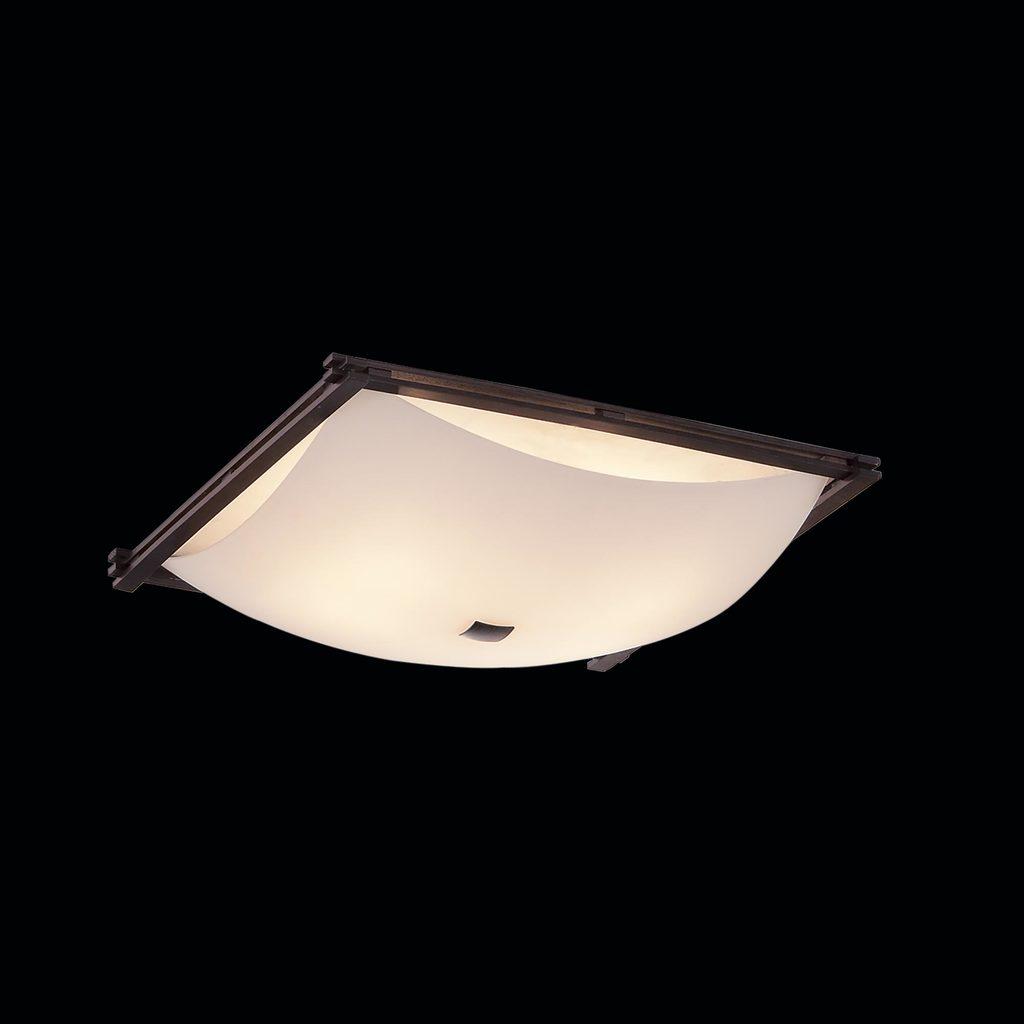Потолочный светильник Citilux Лайн CL932111, 4xE27x100W, коричневый, белый, дерево, стекло - фото 2