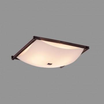 Потолочный светильник Citilux Лайн CL932111, 4xE27x100W, коричневый, белый, дерево, стекло - миниатюра 3
