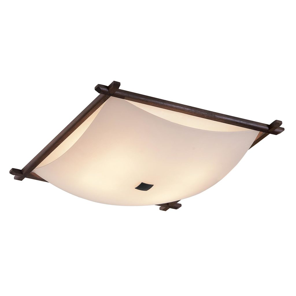 Потолочный светильник Citilux Лайн CL932112, 4xE27x100W, коричневый, белый, дерево, стекло - фото 1