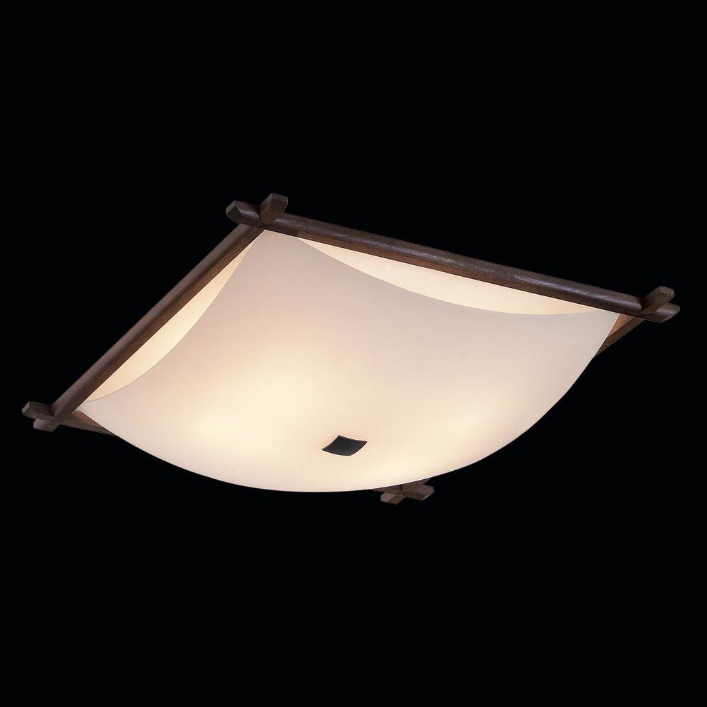 Потолочный светильник Citilux Лайн CL932112, 4xE27x100W, коричневый, белый, дерево, стекло - фото 2