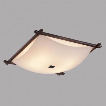 Потолочный светильник Citilux Лайн CL932112, 4xE27x100W, коричневый, белый, дерево, стекло - миниатюра 3
