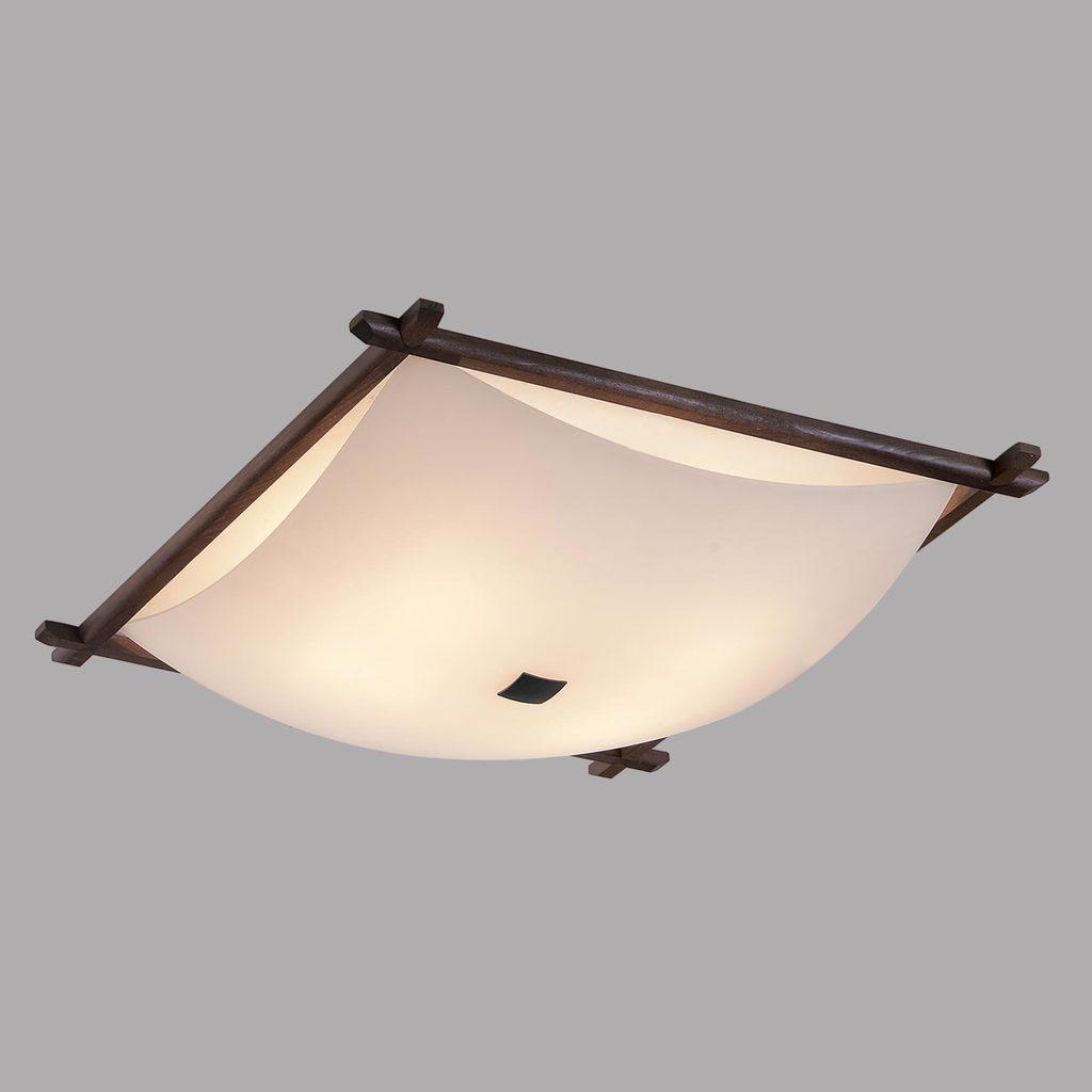 Потолочный светильник Citilux Лайн CL932112, 4xE27x100W, коричневый, белый, дерево, стекло - фото 3