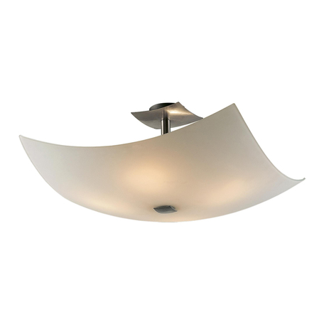 Потолочная люстра Citilux Лайн CL937111, 4xE27x100W, хром, белый, металл, стекло