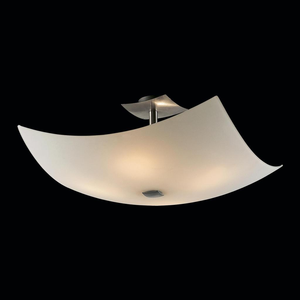 Потолочная люстра Citilux Лайн CL937111, 4xE27x100W, хром, белый, металл, стекло - фото 2
