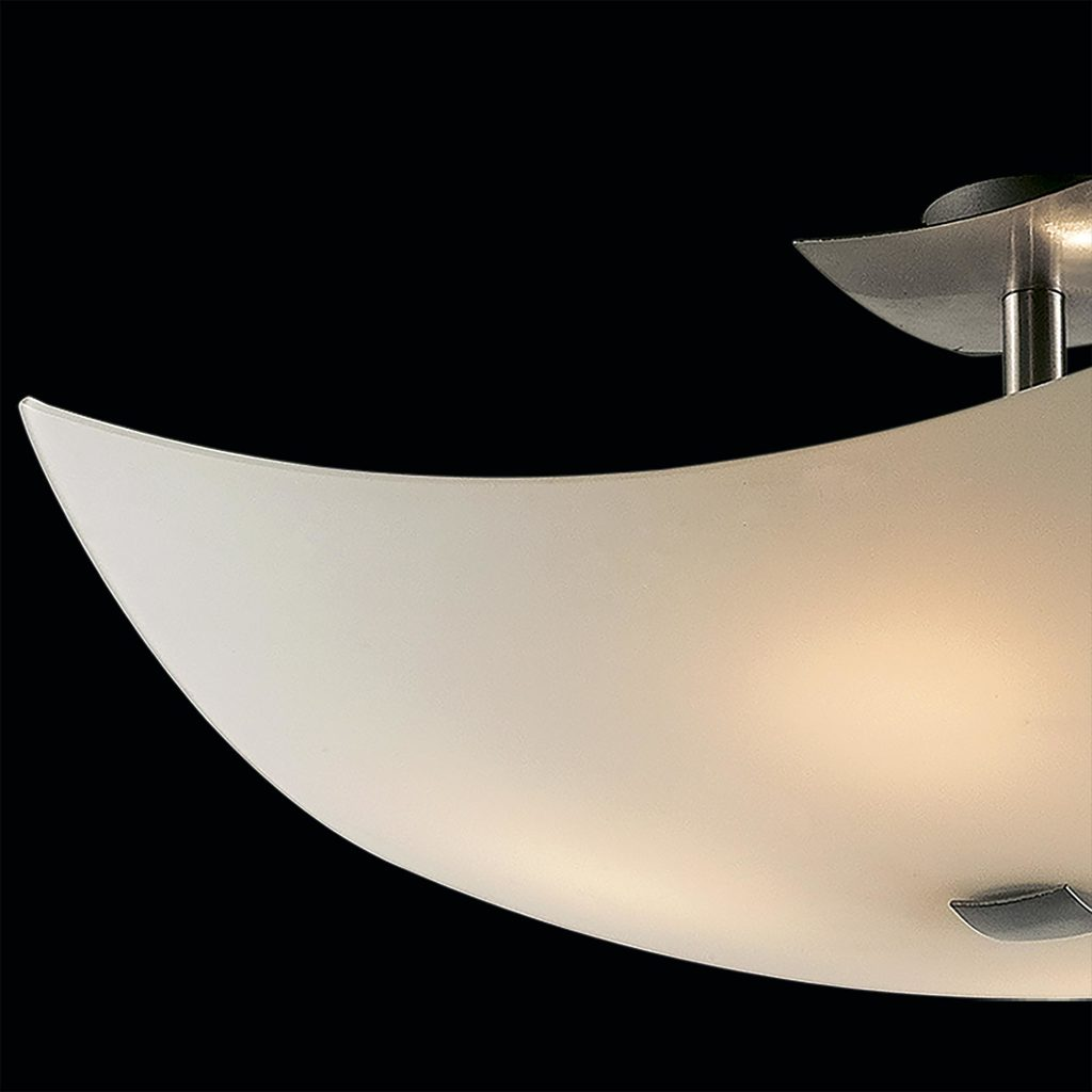 Потолочная люстра Citilux Лайн CL937111, 4xE27x100W, хром, белый, металл, стекло - фото 4