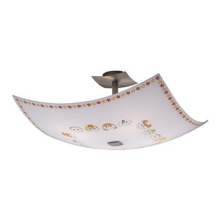 Потолочная люстра Citilux Смайлики CL937116, 4xE27x100W, хром, разноцветный, металл, стекло
