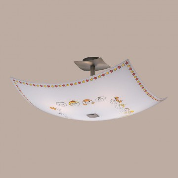 Потолочная люстра Citilux Смайлики CL937116, 4xE27x100W, хром, разноцветный, металл, стекло - миниатюра 3