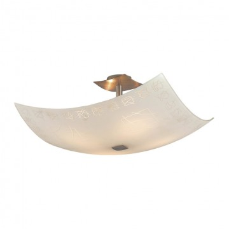 Потолочная люстра Citilux Дина CL937305, 4xE27x100W, бронза, белый, металл, стекло