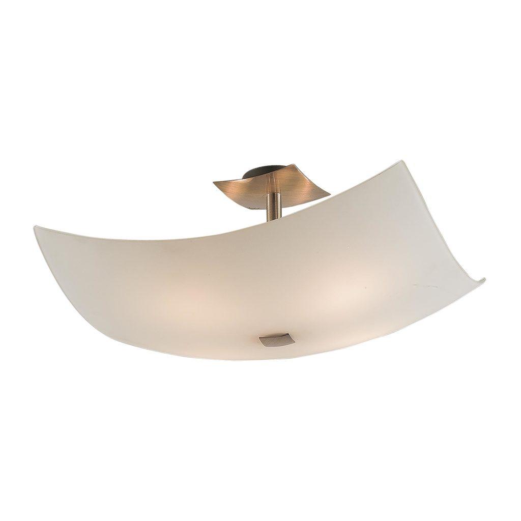 Потолочная люстра Citilux Лайн CL937311, 4xE27x100W, бронза, белый, металл, стекло - фото 1