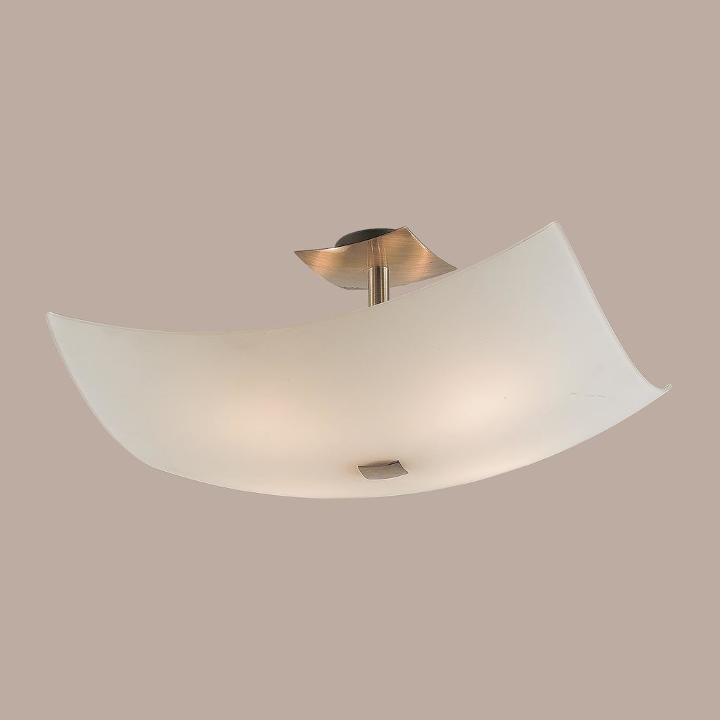 Потолочная люстра Citilux Лайн CL937311, 4xE27x100W, бронза, белый, металл, стекло - фото 3