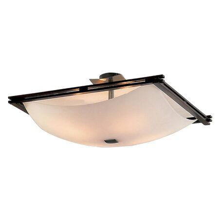 Потолочная люстра Citilux Лайн CL937333, 4xE27x100W, бронза, коричневый, белый, дерево, металл, стекло