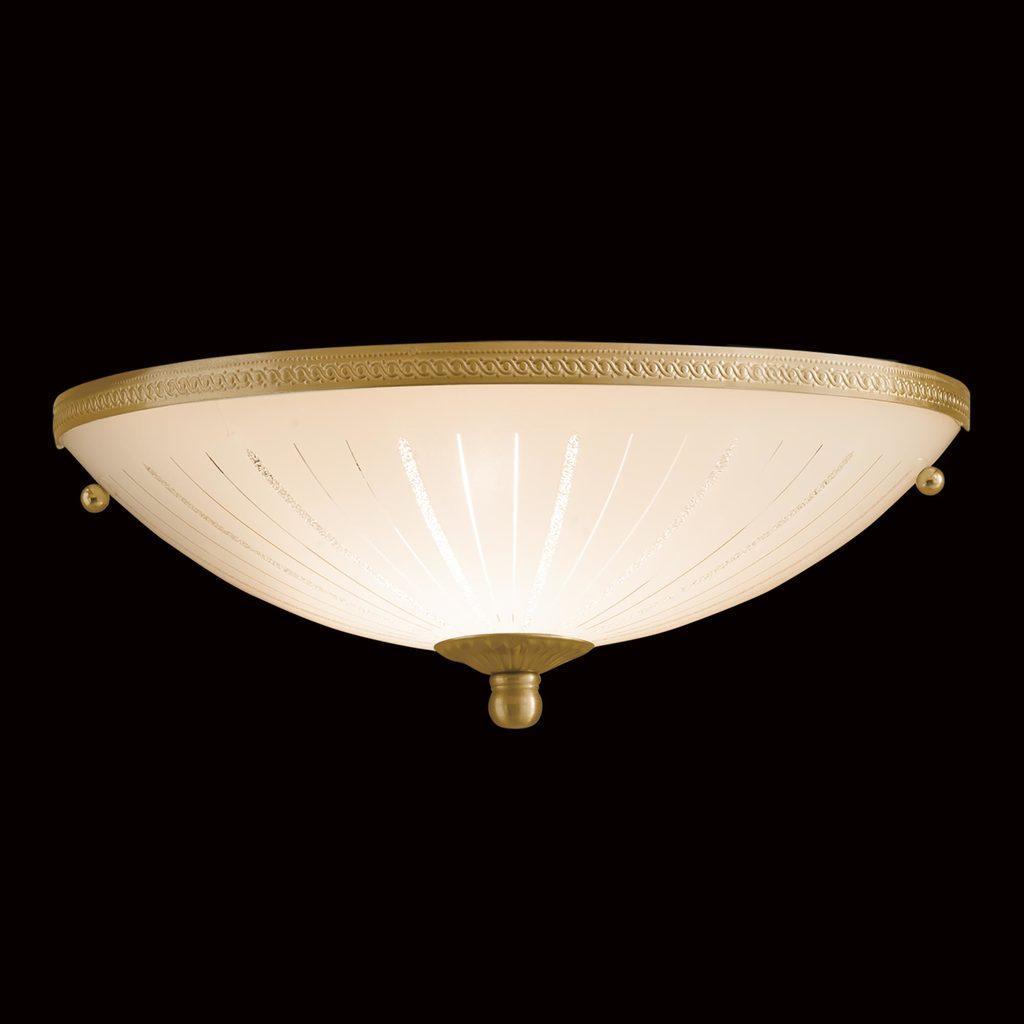 Потолочный светильник Citilux CL912301, 1xE27x100W, бронза, белый, металл, стекло - фото 2
