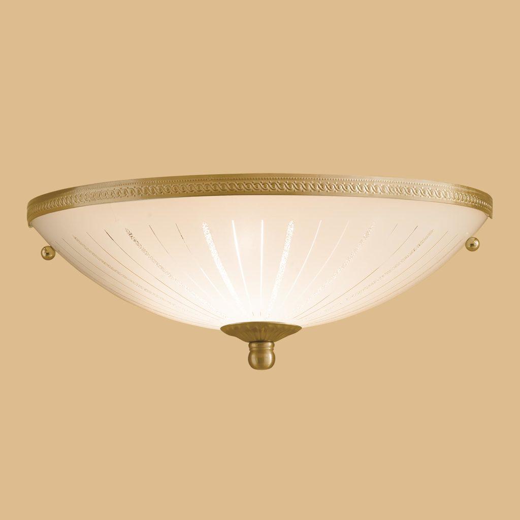 Потолочный светильник Citilux CL912301, 1xE27x100W, бронза, белый, металл, стекло - фото 3