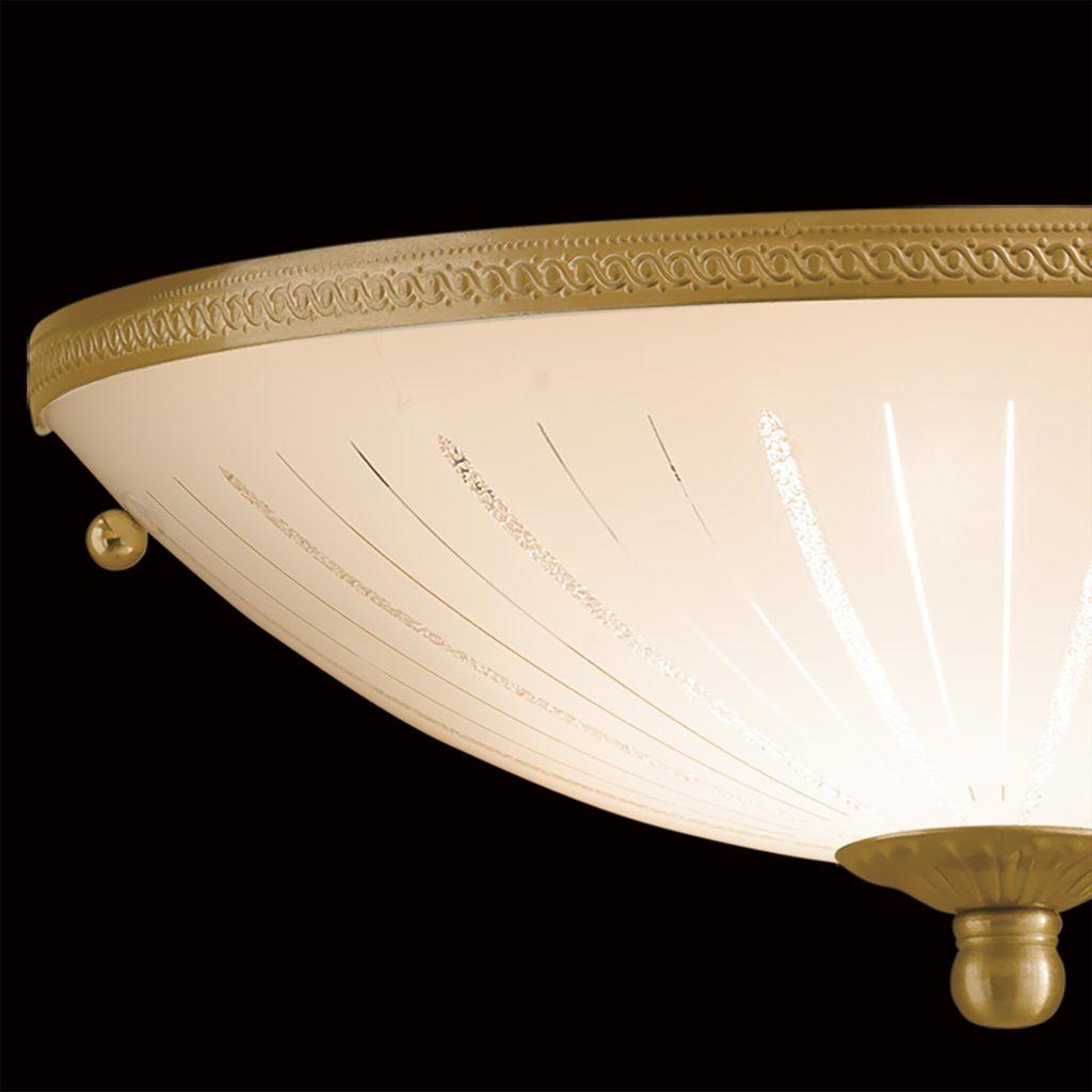 Потолочный светильник Citilux CL912301, 1xE27x100W, бронза, белый, металл, стекло - фото 4