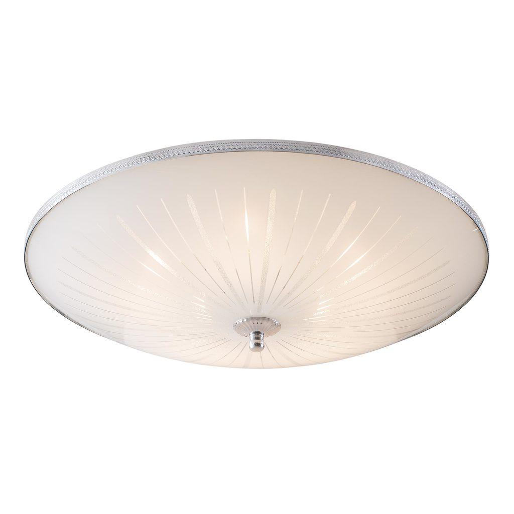 Потолочный светильник Citilux CL912511, 5xE27x75W, хром, белый, металл, стекло - фото 1