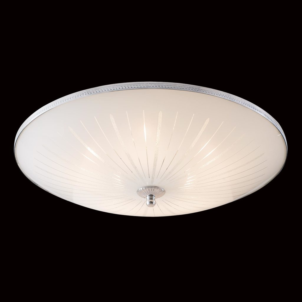 Потолочный светильник Citilux CL912511, 5xE27x75W, хром, белый, металл, стекло - фото 2