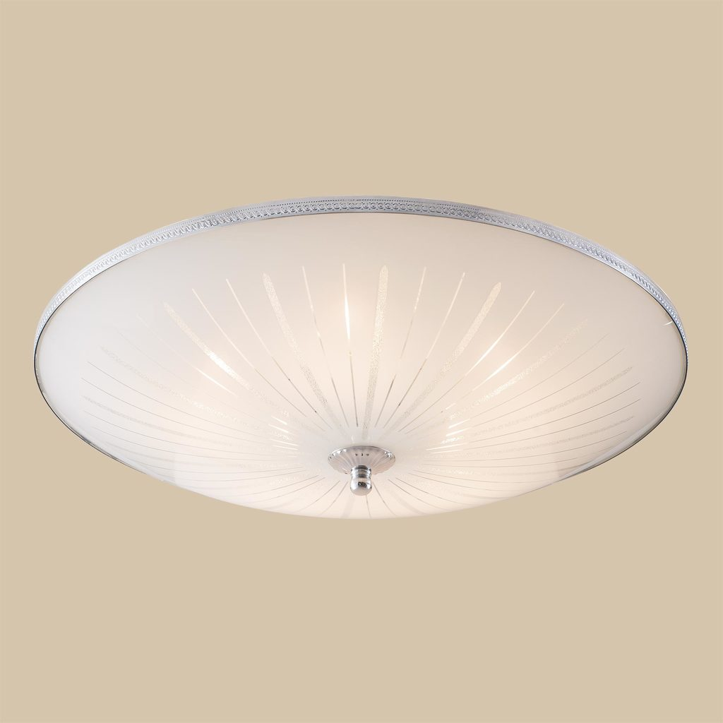 Потолочный светильник Citilux CL912511, 5xE27x75W, хром, белый, металл, стекло - фото 3