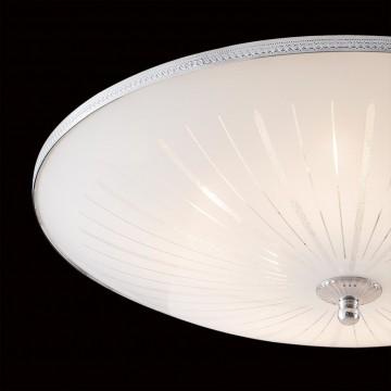 Потолочный светильник Citilux CL912511, 5xE27x75W, хром, белый, металл, стекло - миниатюра 4