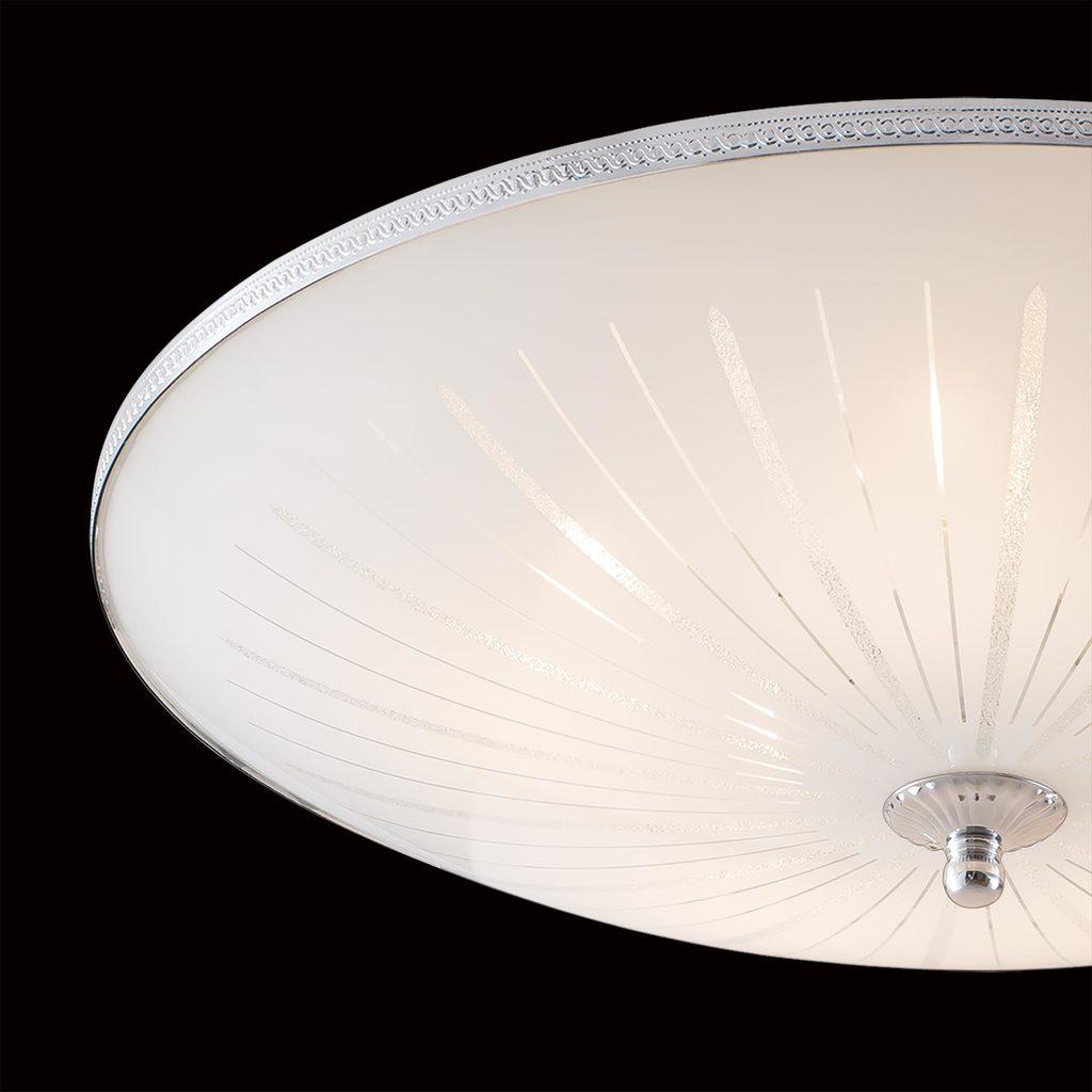 Потолочный светильник Citilux CL912511, 5xE27x75W, хром, белый, металл, стекло - фото 4