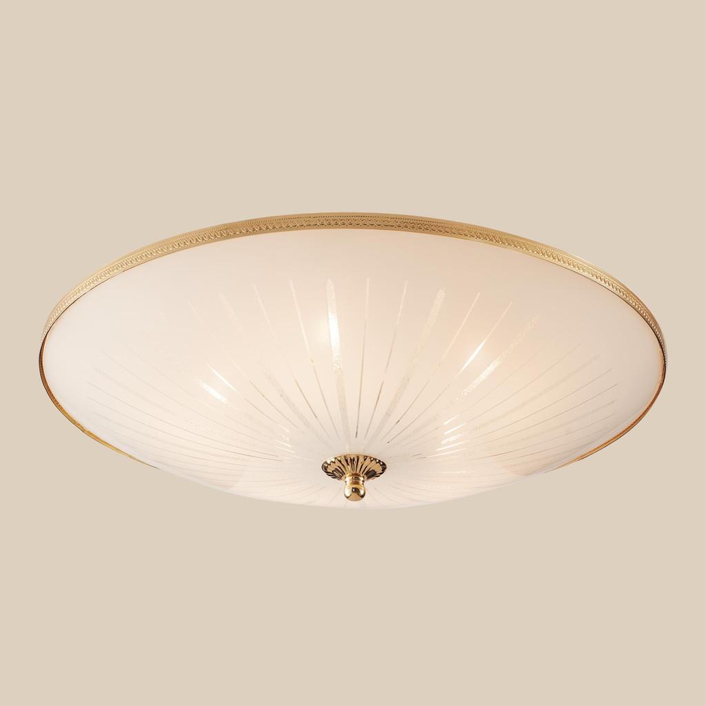 Потолочный светильник Citilux CL912521, 5xE27x75W, золото, белый, металл, стекло - фото 3