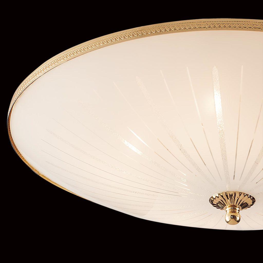 Потолочный светильник Citilux CL912521, 5xE27x75W, золото, белый, металл, стекло - фото 4