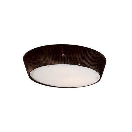 Потолочный светильник Citilux Гофре CL913142, 4xE27x75W, коричневый, белый, металл, стекло, текстиль