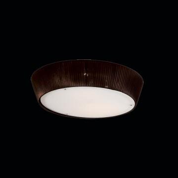 Потолочный светильник Citilux Гофре CL913142, 4xE27x75W, коричневый, белый, металл, стекло, текстиль - миниатюра 2