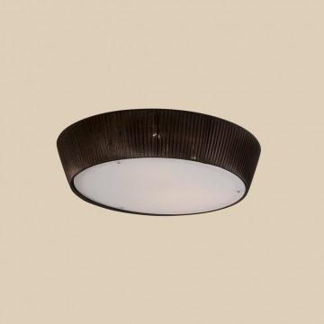Потолочный светильник Citilux Гофре CL913142, 4xE27x75W, коричневый, белый, металл, стекло, текстиль - миниатюра 3