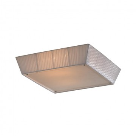 Потолочный светильник Citilux Гофре CL914141, 4xE27x75W, белый, металл, стекло, текстиль
