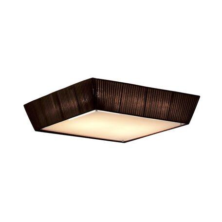 Потолочный светильник Citilux Гофре CL914142, 4xE27x75W, коричневый, белый, металл, стекло, текстиль