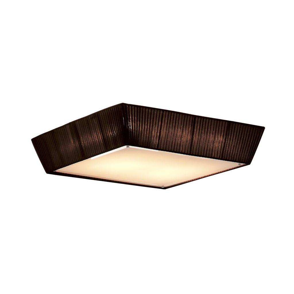 Потолочный светильник Citilux Гофре CL914142, 4xE27x75W, коричневый, металл, текстиль - фото 1